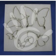 Чипборд стандарт бабочки 15*15 см №33-0077