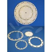 Декоративный элемент накладка для часов (н-р 4 шт) №33-0084