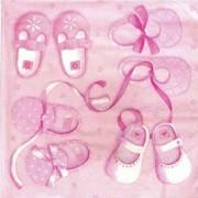 Салфетка для декупажа 33*33см Розовые пинетки