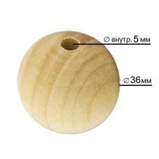 Бусины Zlatka дерево HBW-27  36 мм  5 шт св. дерево