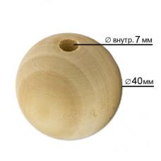 Бусины Zlatka дерево HBW-28 40 мм 3 шт св. дерево
