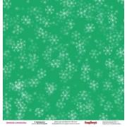 Бумага для скрапбукинга 30,5х30,5 см 180 гр/м двусторон Зимние Каникулы К празднику