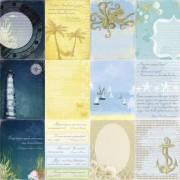 Бумага для скрапбукинга 30,5х30,5 см 180 гр/м двусторон Легенды о Море