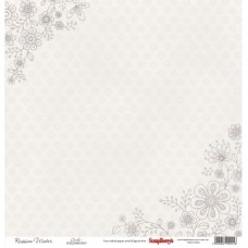 Бумага для скрапбукинга 30,5х30,5 см 180 гр/м двусторон Летняя Радость Тишина