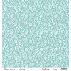 Бумага для скрапбукинга 30,5х30,5 см 180 гр/м двусторон Летняя Радость Цветущая лоза