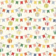 Бумага для скрапбукинга 30,5х30,5 см 180 гр/м двусторон С Днем Рождения! Подарки