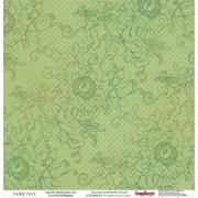 Бумага для скрапбукинга 30,5х30,5 см 180 гр/м двусторон Сказка про Фей Таинственный лес