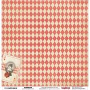 Бумага для скрапбукинга 30,5х30,5 см 180 гр/м двусторон Старый цирк Конфетти