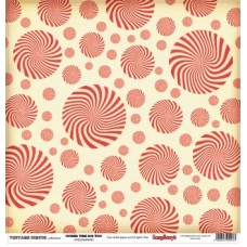 Бумага для скрапбукинга 30,5х30,5 см 180 гр/м двусторон Старый цирк Под куполом
