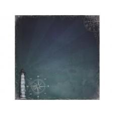 Бумага для скрапбукинга 30,5х30,5 см 180 гр/м двусторон Там, где Море, Сказки старого маяка