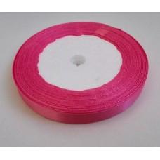 Лента атласная темно-розовая 1см, 1м
