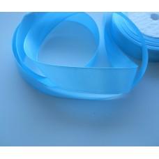 Атласная лента голубая 2см, 1м