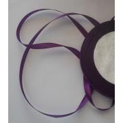 Лента атласная фиолетовая 6мм, 1м