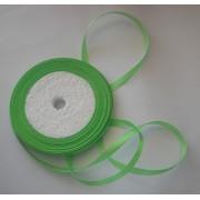 Лента атласная зеленая 6мм, 1м