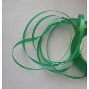Лента атласная темно-зеленая 6мм, 1м