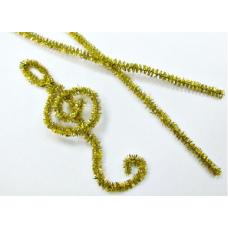 Проволока шинил (синельная), люрекс золото