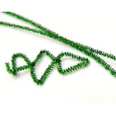 Проволока шинил (синельная), люрекс зеленый