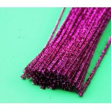 Проволока шинил (синельная), люрекс темно-розовый