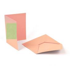 Заготовка для открыток (с конвертом) 5шт Mr.Painter MCB-01 105x145 мм, 05 Зеленый