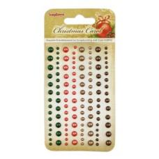 Клеевые полужемчужинки, 120 шт, 4 цвета Ночь перед Рождеством