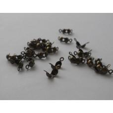 Зажимы для узла (концевики), цвет бронза 2шт