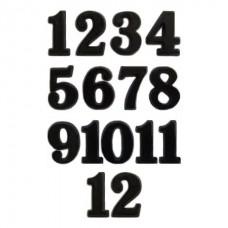 Цифры в наборе для часов арабские, материал пластик, цвет черный