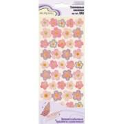 Наклейки Mr.Painter   Трехмерные   DAS  28 Цветочки (неж.розовые)