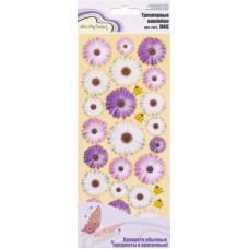 Наклейки Mr.Painter   Трехмерные   DAS  30 Цветочки (бело-лиловые)