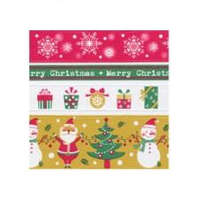 BOOMZEE  Набор клеевых лент  4 шт.  1.5/0.7/1.2/2.5 см - 10 Рождество