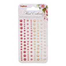 Клеевые полужемчужинки, 120 шт, 4 цвета Цветочная вышивка 2