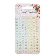 Клеевые полужемчужинки, 120 шт, 4 цвета Цветочная вышивка 3