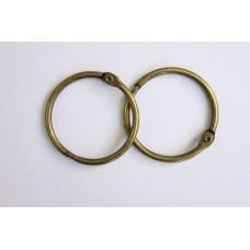 Кольца для альбомов, 2 шт состаренная медь 40 мм