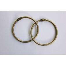 Кольца для альбомов, 2 шт состаренная медь 50 мм