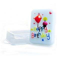 Пластиковая форма для мыла День рождения
