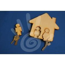 Ключница с брелоками Парочка 17*17 см ф6 №23-0008