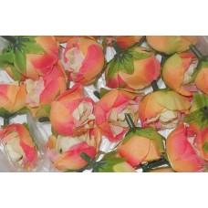 Роза 3см оранжевая