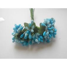 Сахарные бутоньерки голубые
