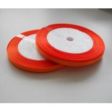 Лента атласная оранжевая 6мм, 1м