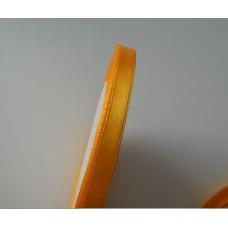 Лента атласная оранжево-желтая 6мм, 1м