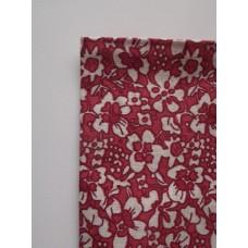 Ситец лоскут 50х50см, двухцветные цветы (белый с темно-розовым)