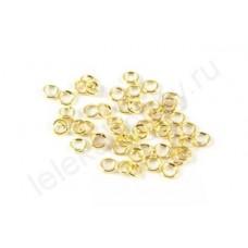 Кольцо соединительное для бус 5*0,7мм, цвет золото