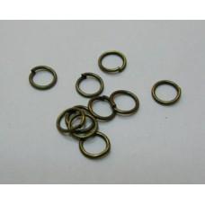 Кольцо соединительное для бус 5*0,7мм, цвет бронза