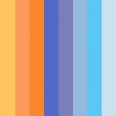 Бумага для квиллинга Mr.Painter A 08-1.5-200 1.5 мм  350 мм набор №4 Оранжево-синий микс
