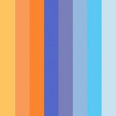 Бумага для квиллинга Mr.Painter B 08-03-200 3 мм 350 мм набор №4 Оранжево-синий микс