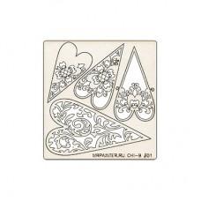 Чипборд Mr.Painter 1 шт.  9,5 х 10 см  №01 Сердечки
