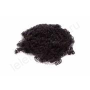 Волосы для кукол и игрушек HobbyBe (кудрявые), черный