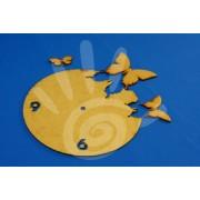 Заготовка для часов Бабочки с цифрами 20 см ф3-4 №08-0030
