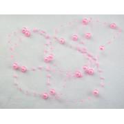 Бусины на леске розовый