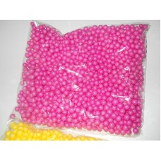 Шарики пенопластовые 7-9мм, темно-розовый