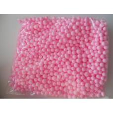 Шарики пенопластовые 7-9мм, розовый